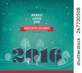 peace  love  joy. big 2016... | Shutterstock .eps vector #267730508
