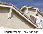 Busy House Painter Painting Th...