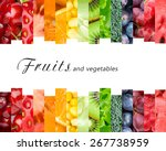 Small photo of Fresh fruits and vegetables. Healthy food concept