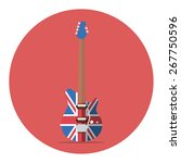 english flag electric guitar.... | Shutterstock .eps vector #267750596