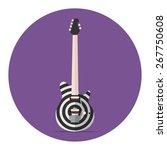 target print electric guitar.... | Shutterstock .eps vector #267750608