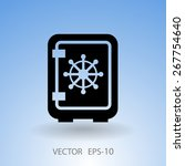 flat icon of safe | Shutterstock .eps vector #267754640