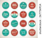 vintage badges   labels set   Shutterstock .eps vector #267756914
