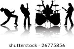 the vector musicans silhouettes ... | Shutterstock .eps vector #26775856