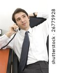 relax at work - stock photo