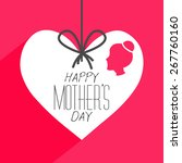 beautiful greeting for mother's ... | Shutterstock .eps vector #267760160