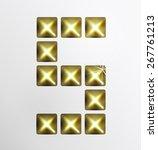 letter icon  gold pixel font... | Shutterstock .eps vector #267761213