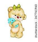 teddy bear with bunny | Shutterstock . vector #267761960