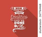 mothers day design over orange...   Shutterstock .eps vector #267764468