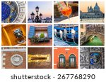 Colorful Collage Of Venice