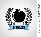 fitness sport design  vector... | Shutterstock .eps vector #267769280