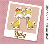baby showe design over pink...   Shutterstock .eps vector #267772004