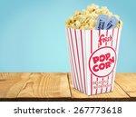 Popcorn  Movie  Movie Ticket.