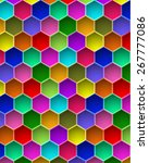 colorful hexagon vector... | Shutterstock .eps vector #267777086