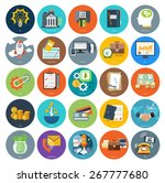set of business icons concepts... | Shutterstock .eps vector #267777680