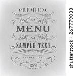 vintage ornament calligraphic... | Shutterstock .eps vector #267779033