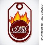 hot deal design over white... | Shutterstock .eps vector #267780230