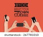 byod design over red background ...   Shutterstock .eps vector #267781010