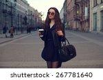 young beautiful pretty girl... | Shutterstock . vector #267781640