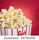 Popcorn  Box  Isolated.