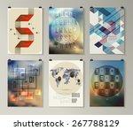 set of poster  flyer  brochure...   Shutterstock .eps vector #267788129