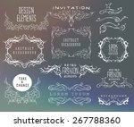 set of calligraphic and floral... | Shutterstock .eps vector #267788360