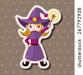 witch cartoon theme elements | Shutterstock .eps vector #267792938