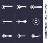 set of icons on a theme door... | Shutterstock .eps vector #267794990