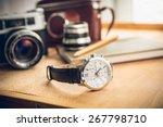 closeup toned shot of male... | Shutterstock . vector #267798710