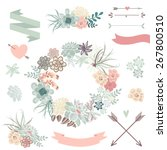 wedding graphic set with... | Shutterstock .eps vector #267800510