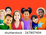 diversity children friendship... | Shutterstock . vector #267807404