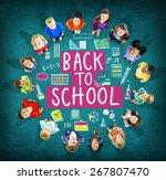 children cheerful education... | Shutterstock . vector #267807470