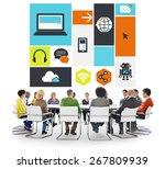 computer cloud computing... | Shutterstock . vector #267809939