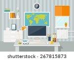 vector flat illustration.... | Shutterstock .eps vector #267815873