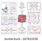 baseball badges and icons | Shutterstock .eps vector #267823358