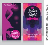 template for ladies night party ... | Shutterstock .eps vector #267827678