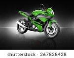 motorcycle motorbike bike... | Shutterstock . vector #267828428