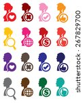 round web icons and conceptual... | Shutterstock .eps vector #267829700