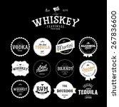 premium vintage whiskey alcohol ... | Shutterstock .eps vector #267836600