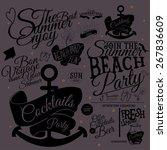 set of vector summer...   Shutterstock .eps vector #267836609