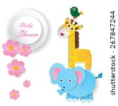 baby shower design. vector... | Shutterstock .eps vector #267847244