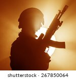 russian special forces operator ... | Shutterstock . vector #267850064