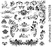 set of calligraphic elements... | Shutterstock .eps vector #267863258