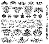 set of graphic elements for... | Shutterstock .eps vector #267864698