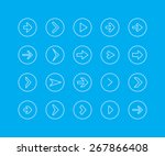 thin line icon set   arrow | Shutterstock .eps vector #267866408