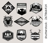 adventure  outdoors  camping... | Shutterstock .eps vector #267866414