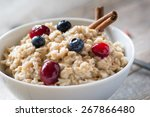breakfast oatmeal porridge with ... | Shutterstock . vector #267866480