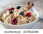 breakfast oatmeal porridge with ... | Shutterstock . vector #267866480