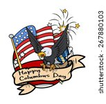 columbus day graphic banner...   Shutterstock .eps vector #267880103