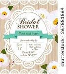bridal shower | Shutterstock .eps vector #267881864